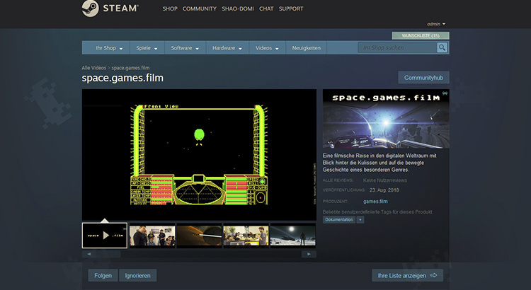space.games.film available on Steam now!